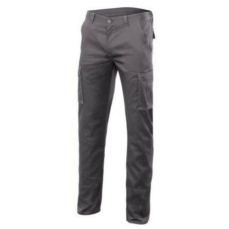 Pantalon de travail stretch multipoches 16% polyester 46% coton 38% EMET 240 gr/m2 - Vert Chasseur - 103002S - Velilla