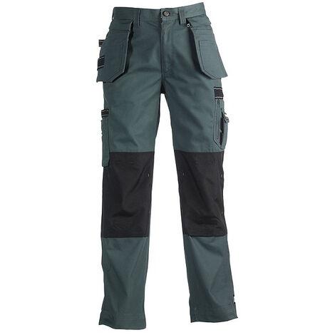 Pantalon de travail vert foncé triple coutures resistant déperlant HEROCK