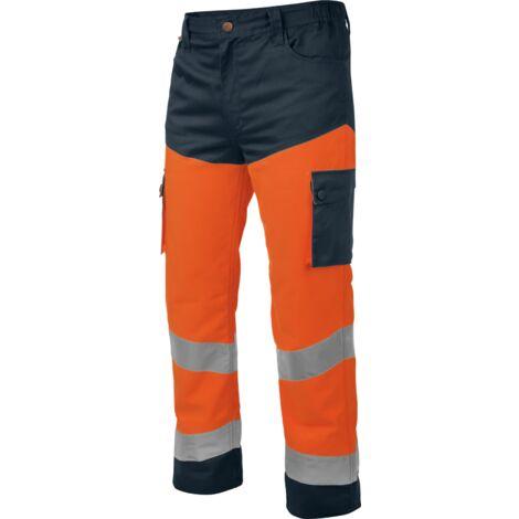 Pantalon de travail Würth MODYF haute-visibilité orange/marine