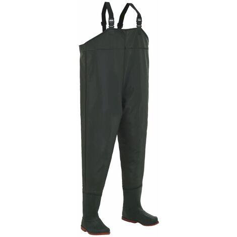 Pantalon échassier avec bottes Vert Pointure 44