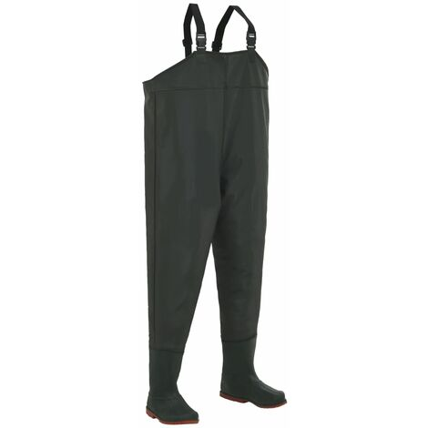 Pantalon échassier avec bottes Vert Pointure 46