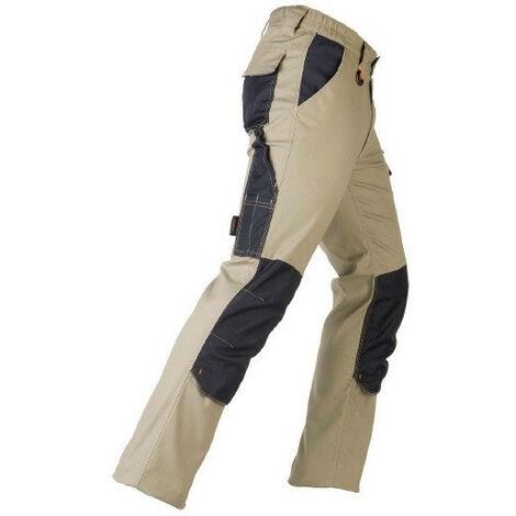 Pantalon élasticisé TENERE PRO beige KAPRIOL (l) - Taille : L