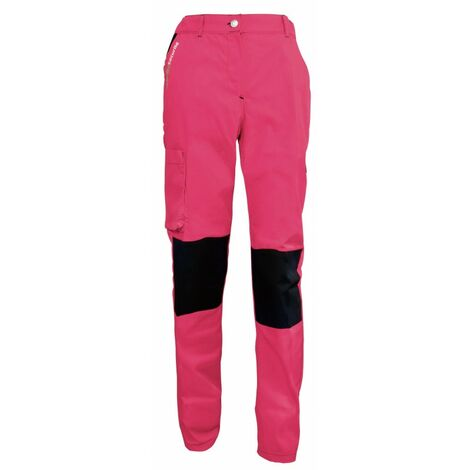 Pantalon femme de travail rose/noir PEP'S FASHION SECURITE - plusieurs modèles disponibles