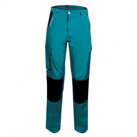 Pantalon femme de travail turquoise/noir PEP'S FASHION SECURITE - plusieurs modèles disponibles