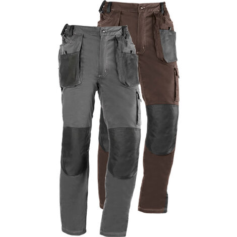 PANTALON FLEX 191 T-L MARRON/NEGRO
