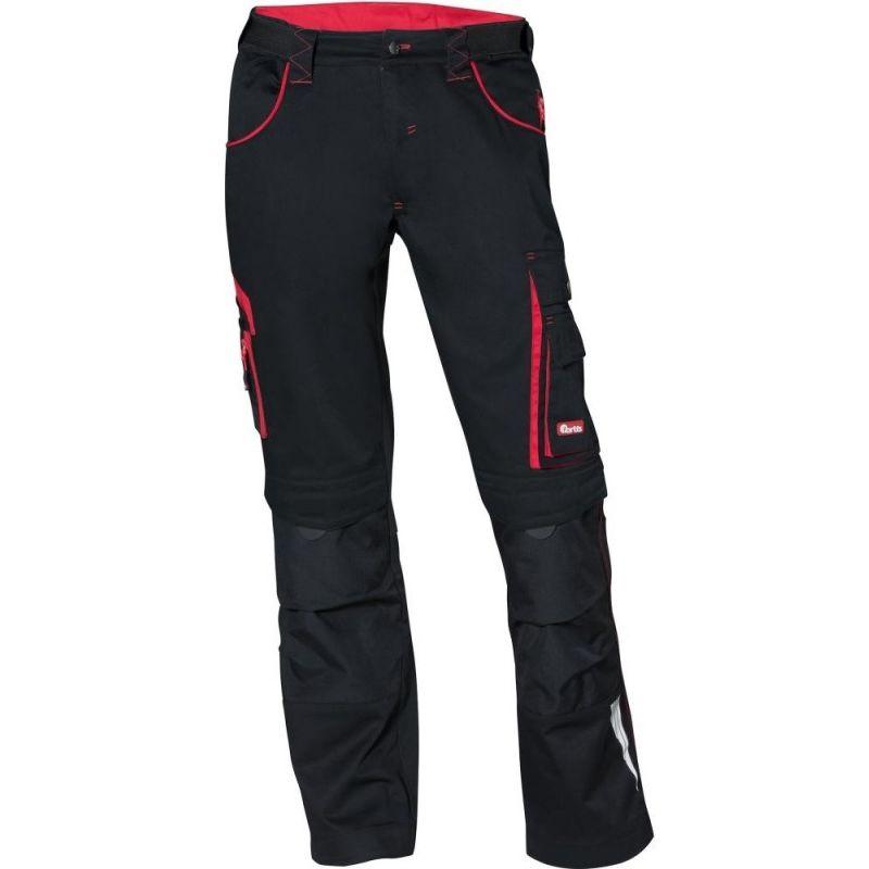 Pantalon FORTIS 24, noir/rouge Taille 58