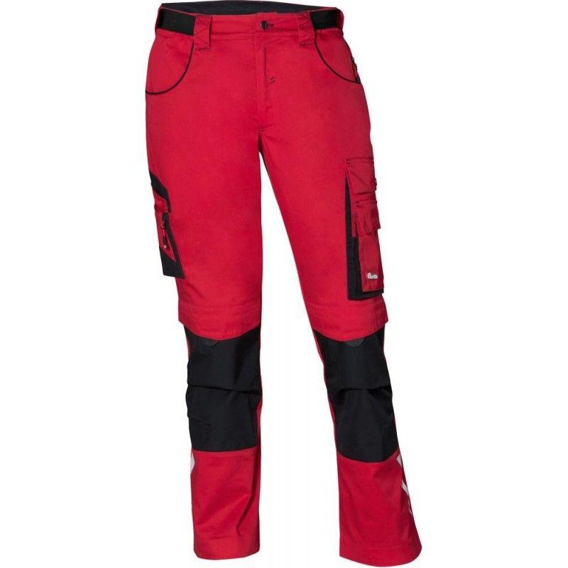 Pantalon FORTIS 24, rouge/noir Taille 54