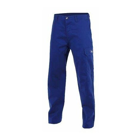 Pantalon FR spécial soudeur retardant flamme - Coton traité 335G - Taille M - Bleu