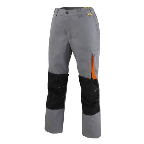 Pantalon G-ROK avec genouillères gris/carbone/orange T.XS Molinel - Gris Clair