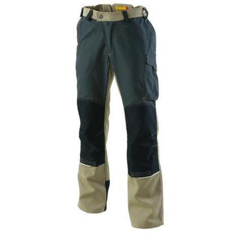 Pantalon genouillères Outforce 2R Beige/Carbone T.S Molinel - Beige