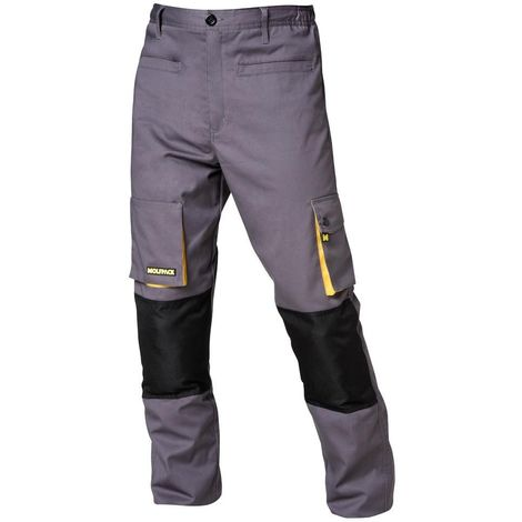 Pantalon Gris/Amarillo Largo Talla 42/44 M