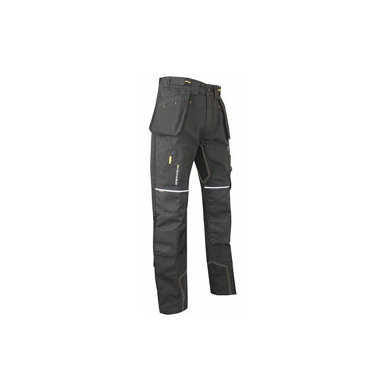 Pantalon de travail canvas avec poches genouillères - Gamme Constructor Pro - ETABLI - GRIS CARBONE - 1369 - LMA Lebeurre - taille: 44