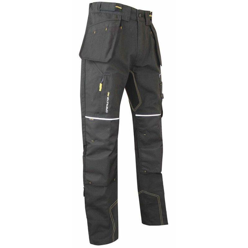 Pantalon de travail renforcé multipoches LMA Etabli Gris Carbone 48