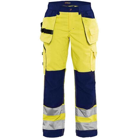 Pantalon haute-visibilité femme - 3389 Jaune fluo/Marine 71561811 - Blaklader