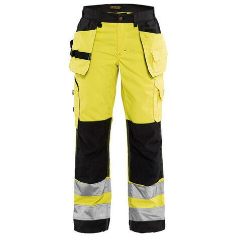 Pantalon haute-visibilité femme - 3399 Jaune fluo/Noir 71561811 - Blaklader