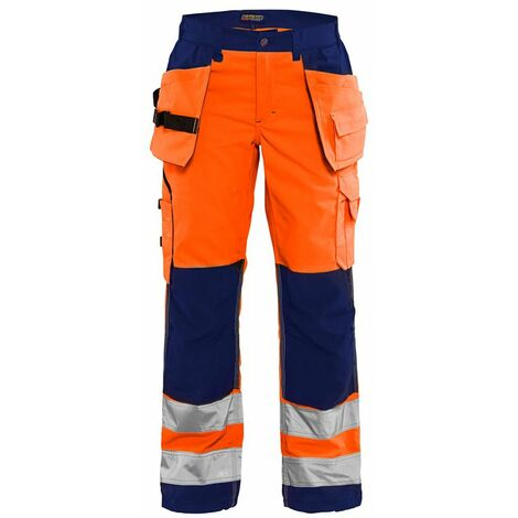 Pantalon haute-visibilité femme - 5389 Orange fluo/Marine 71561811 - Blaklader