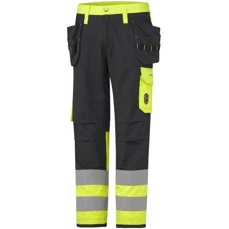 Pantalon h aute visibilité ignifugé ABERDEEN CONSTRUCTION CLASS 1 Helly Hansen Jaune / Charbon L - XL
