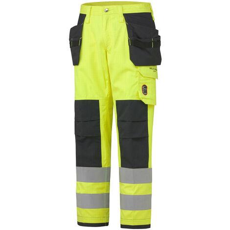 Pantalon haute visibilité ignifugé ABERDEEN CONSTRUCTION Helly Hansen Jaune XXL - XXXL