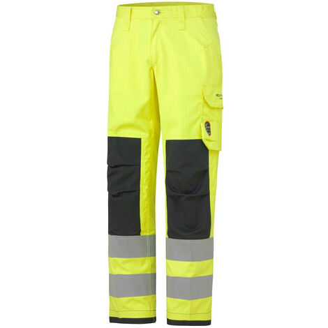Pantalon haute visibilité ignifugé ABERDEEN Helly Hansen Jaune / Charbon 3XL