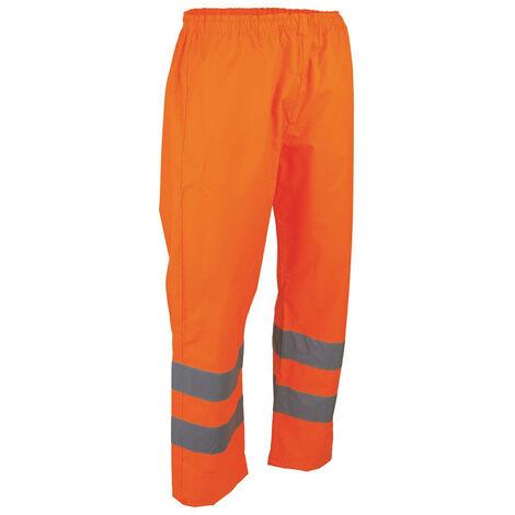 Pantalon haute visibilité imperméable LMA PRIORITE Orange Fluo