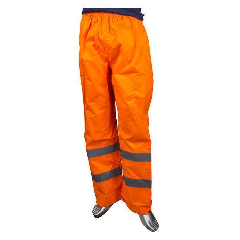 Pantalon haute visibilité Imperméable Orange, Unisexe, tour de taille: L, en Polyester EN20471, EN343