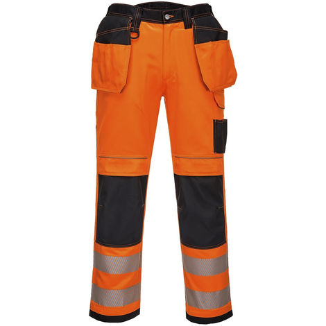 Pantalon haute visibilité Résistant à l'abrasion Orange, Unisexe EN 14404