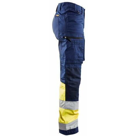 15d6871eca Pantalon haute-visibilité stretch femme - 8933 Marine/Jaune fluo - Blaklader