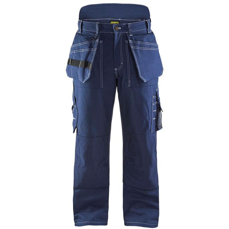 Pantalon artisan doublé hiver 100% coton croisé Marine 52 - Blaklader