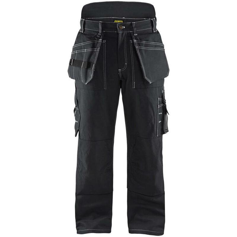 Pantalon artisan doublé hiver 100% coton croisé Noir 48 - Blaklader