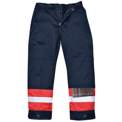 Pantalon ignifugé bicolore antistatique Portwest Bizweld Marine 3XL