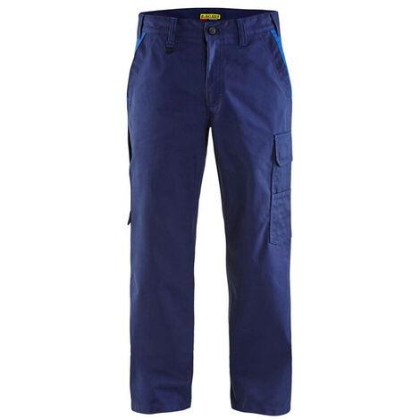 Pantalon de travail Blaklader industrie 100% coton Marine / Bleu 52