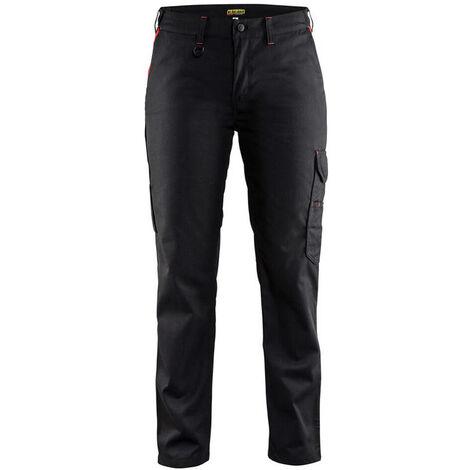 Pantalon industrie femme - 9956 Noir/Rouge - Blaklader