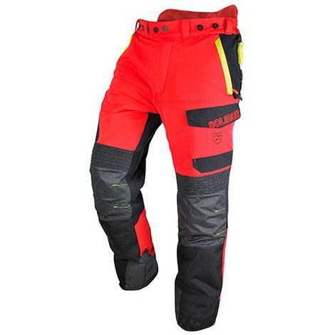 Pantalon INFINITY spécial tronçonneuse protection 5 couches avec Cordura Armortex Coolmax guêtre type A classe 1 - SOLIDUR