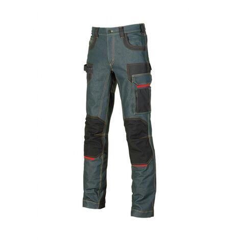 Pantalon jean Platinium button T38 U-power - Bleu