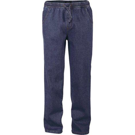 Pantalon jeans bleu indigo ceinture élastiquée pour hommes - taille 48