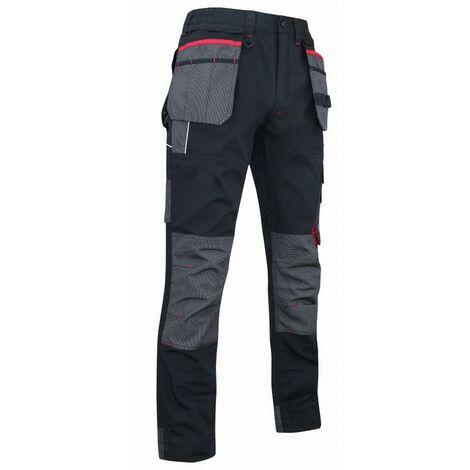Pantalon minerai gris/noir canvas polycoton - LMA