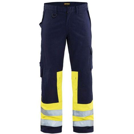 Pantalon multinormes - 8933 Marine/Jaune fluo - Blaklader