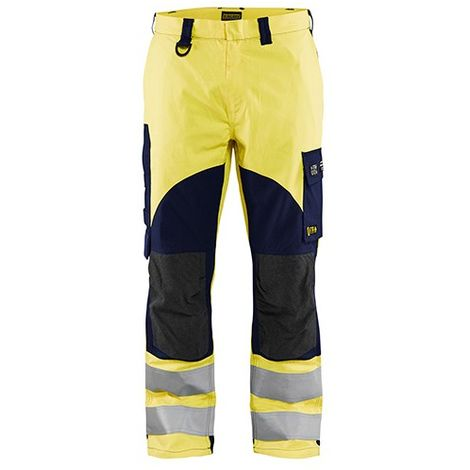Pantalon multinormes inhérent - 3389 Jaune fluo/Marine - Blaklader