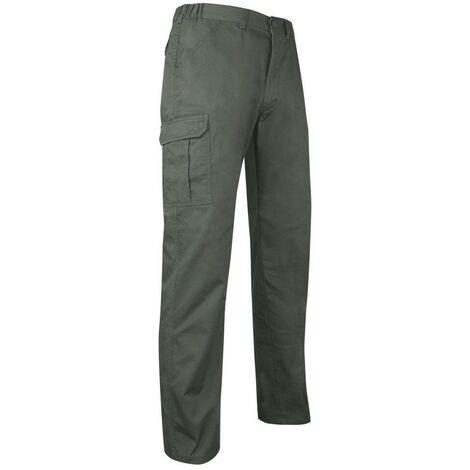 Pantalon multipoche à braguette zippée - BECASSE - Kaki