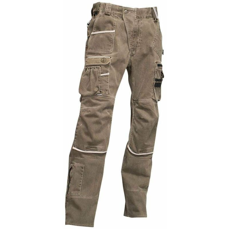 Pantalon multipoches Ardoise Sable 50 - LMA