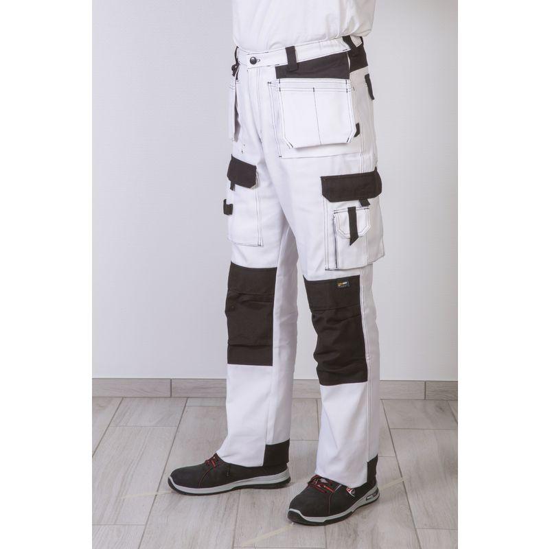 Pantalon Multipoches Blanc Taille du 36 au 54 - Dulary   36
