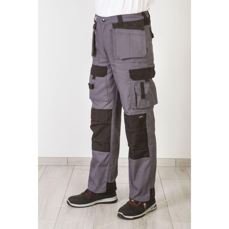 Pantalon Multipoches Gris Taille du 36 au 54 - Dulary   36