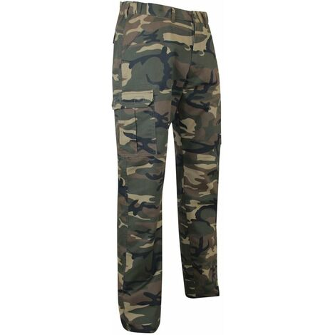 Pantalon multipoches LMA Sanglier Camouflage Kaki
