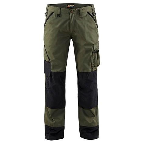 Pantalon paysagiste Vert armée/Noir 1454 Blaklader