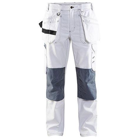 Pantalon peintre femme - 1094 Blanc/Gris - Blaklader
