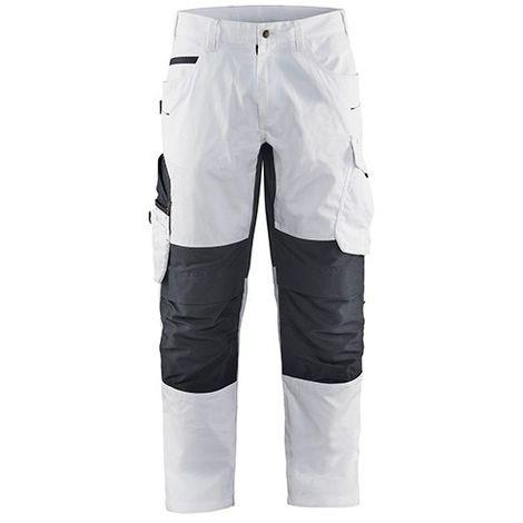 Pantalon Peintre stretch - 1098 Blanc/Gris foncé - Blaklader