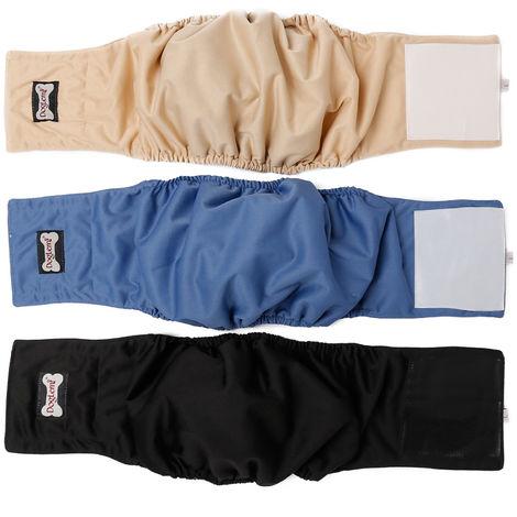Pantalon Physiologique Pour Chien, Couche Impermeable, 3 Pcs, L
