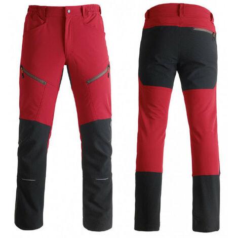 Pantalon pratique et confortable VERTICAL rouge Kapriol avec démo vidéo - plusieurs modèles disponibles