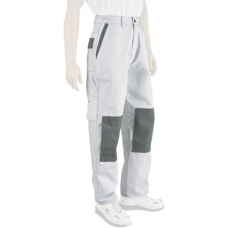 Pantalon Presti-Confort Blanc/Gris Taille du 36 au 60 Double taille - Dulary