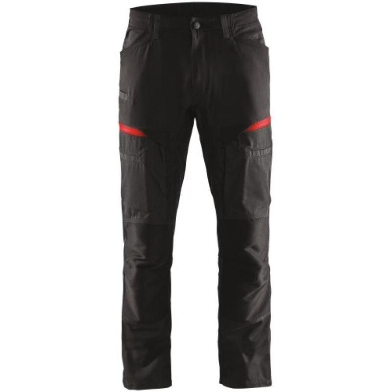 Pantalon service 1456 Taille 46/C52 coloris noir/rouge